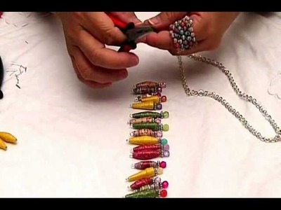 Random Cut Paper Bead Necklace by JaniceMae