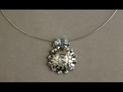 Sidonia's handmade jewelry - Half Tila Silver Sun Pendant - Beading Tutorial