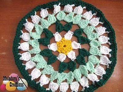 Spring Flower Doily - Left Handed Crochet Tutorial