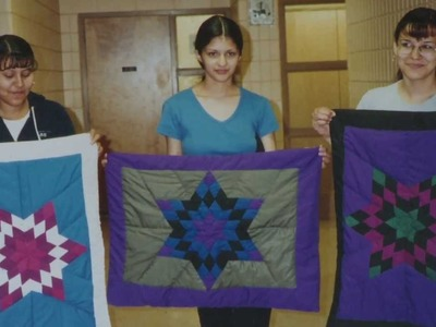 Star Blanket Making with Sagkeeng Child and Family Services - 2013