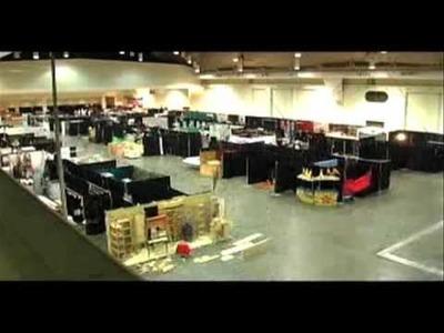 Time lapse of circle craft christmas market set to music