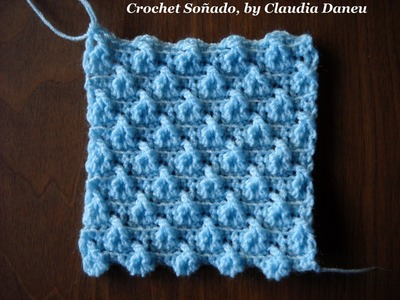 """TWIST"" CROCHETED DOUBLE SEED STITCH. PUNTO ARROZ DOBLE CROCHET CON TORZADA"