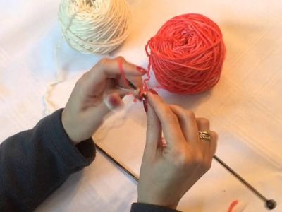 Two Color Cast On Knitting Tutorial