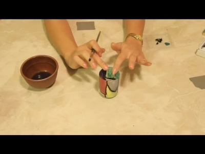 Votive Candle Stained Glass Craft : Easy Crafts