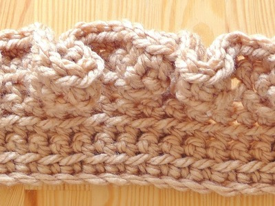 Wave scarf crochet tutorial