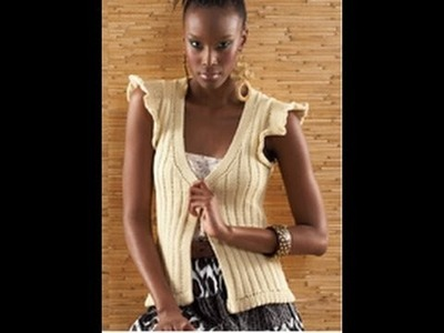 #14 Ruffle Sleeve Vest, Vogue Knitting Spring.Summer 2010