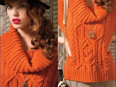 #15 Cowl Neck Top, Vogue Knitting Fall 2012