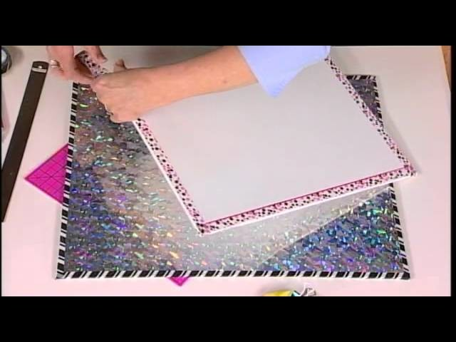 210-4 Host Julie McGuffee shows how to make a kid's bulletin or dry erase board on Scrapbook Soup