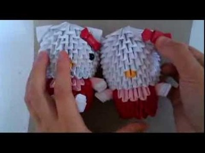 3D origami bow