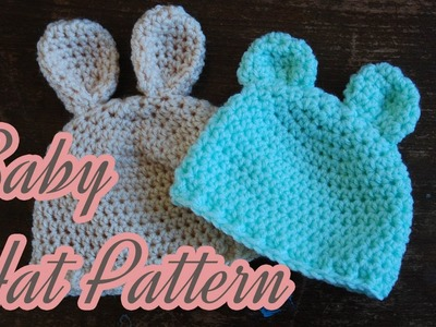 Bear (or Bunny) Crochet Baby Hat