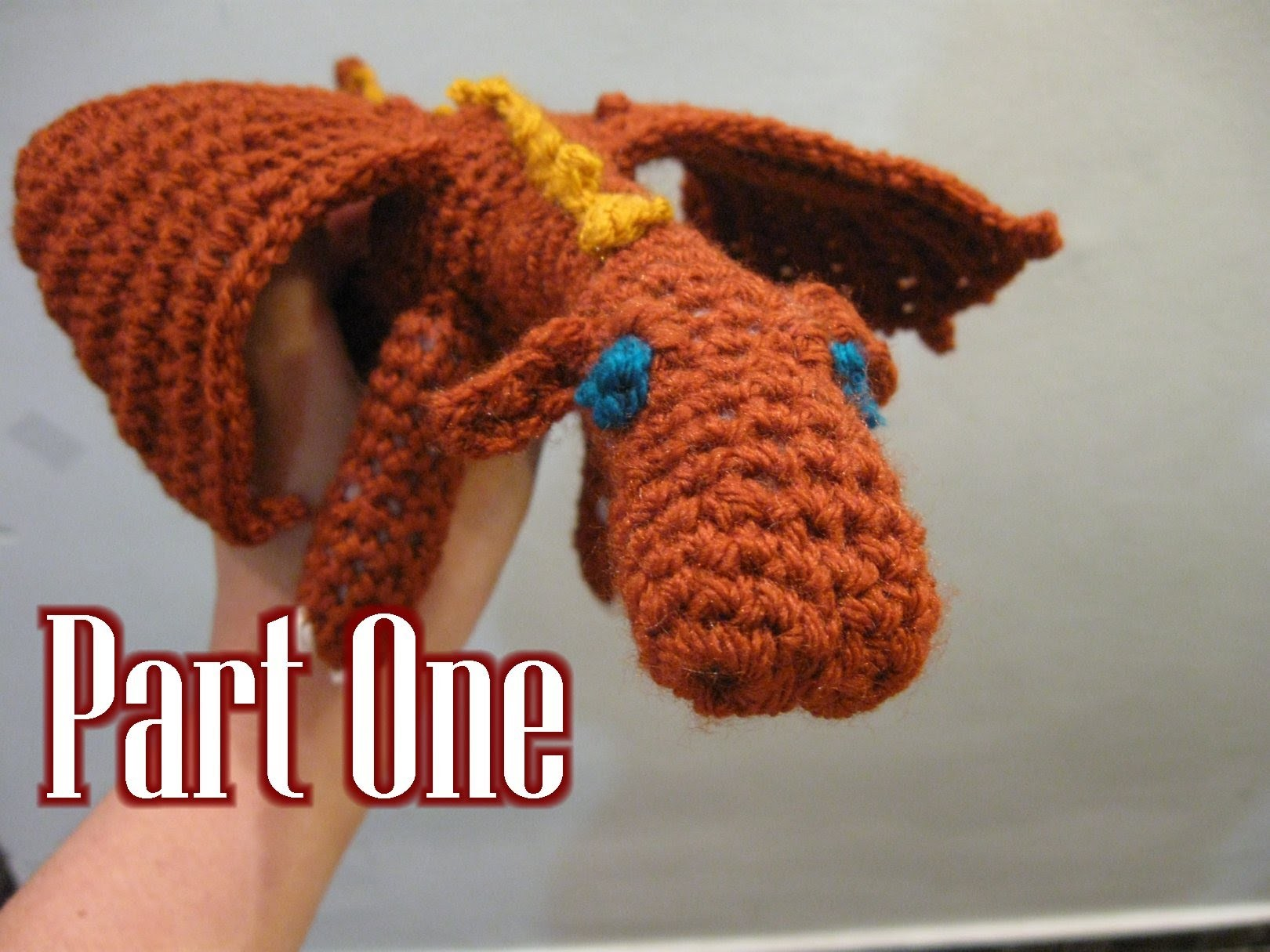 Crochet Amigurumi Fierce Dragon Tutorial pt 1