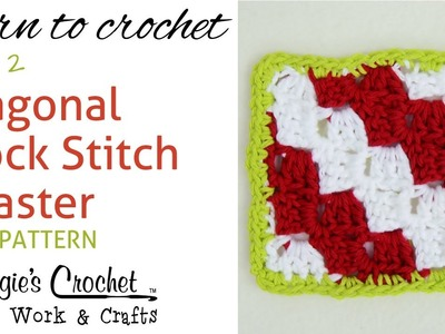 Diagonal Block Stitch Coaster - Part 1 of 2 - Right Handed