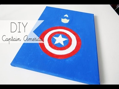 DIY: Captain America Canvas Painting