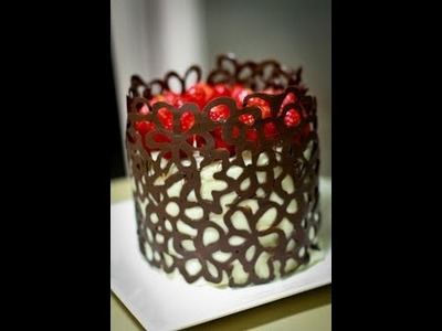 DIY Chocolate Lace Flower Cake Decoration - Two Ideas .