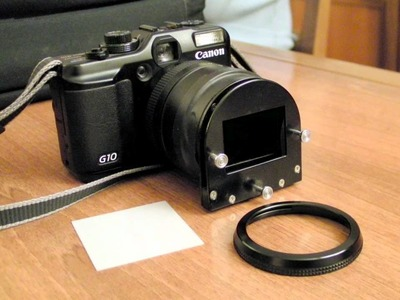 DIY Convert 35mm Slide To Digital, With CANON G10