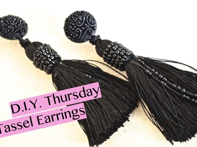 DIY designer inspired tassel earrings | Nik Scott