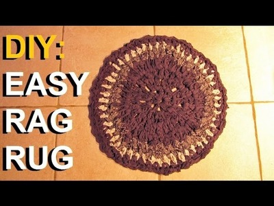DIY: Easy Crochet Rag Rug (Upcycle Old Torn Clothes & Sheets)