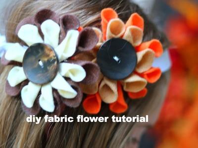 DIY: Fabric Flower Tutorial (do it yourself)