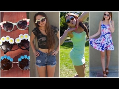 DIY Flower Sunglasses + How to style!