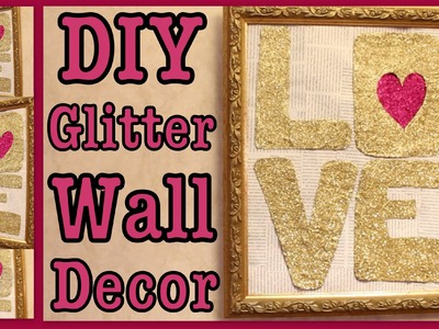 DIY: Glitter Art Wall Decor!