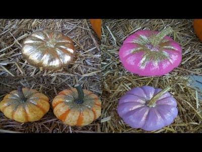 DIY Glitter Pumpkins - Pumpkin Decorating Ideas