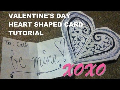 DIY Homemade Valentines Origami Heart Card Idea Simple and Easy