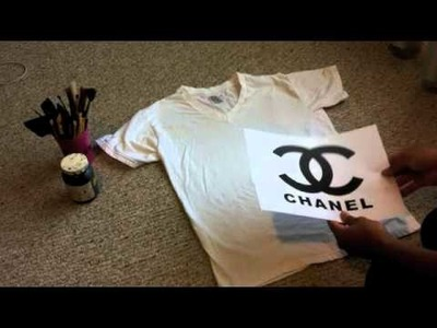 DIY  How to make a Chanel logo Shirt