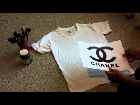 DIY| How to make a Chanel logo Shirt