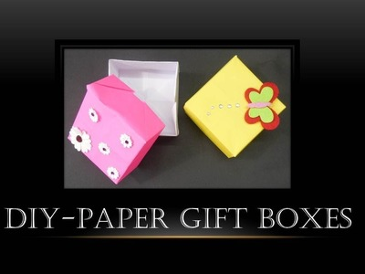 DIY-  How to Make Paper Gift Boxes