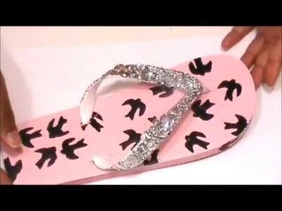 DIY: Miu Miu Print Flip Flops