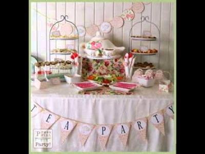 DIY Tea party decor ideas