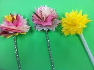 DIY tissue paper flowers! DIY napkin flowers