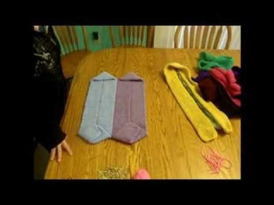 Easy sewing craft for kids: cozy toes rug