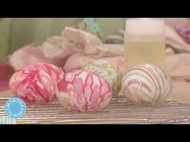 Egg Dyeing with Silk Fabrics - Martha Stewart