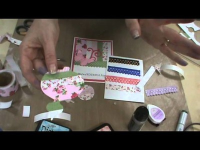 Fabric Tapes & Lace, Sizzix Dies & Tim Holtz Inks by Scrapbooking Made Simple
