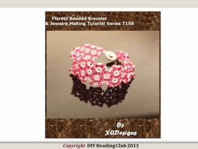 Florets Beaded Bracelet Beading & Jewelry Making Tutorial T156