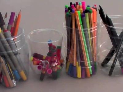 FluffySoap - DIY: Pencil Holder made from PET Plastic Bottles
