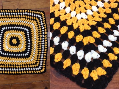Game Day Blanket Free Crochet Pattern - Right Handed