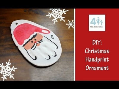 HOLIDAY: DIY Christmas Handprint Ornament (Rachelle)