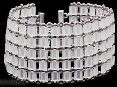How to Bead Weave an Openwork Style Tila Bead Bracelet