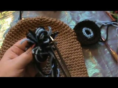 "How to Crochet my ""Monkey Critter Beanie"" (Video 7)"