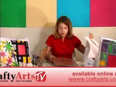 How to Decorate your Cushion Covers - available at Crafty Arts