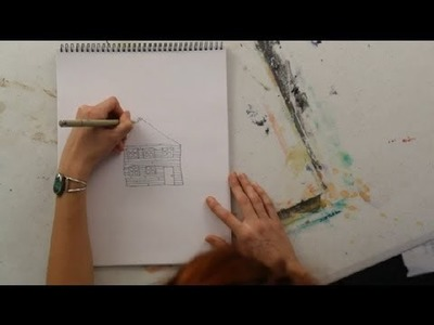 How to Draw a House in Ink Pen : Art Projects