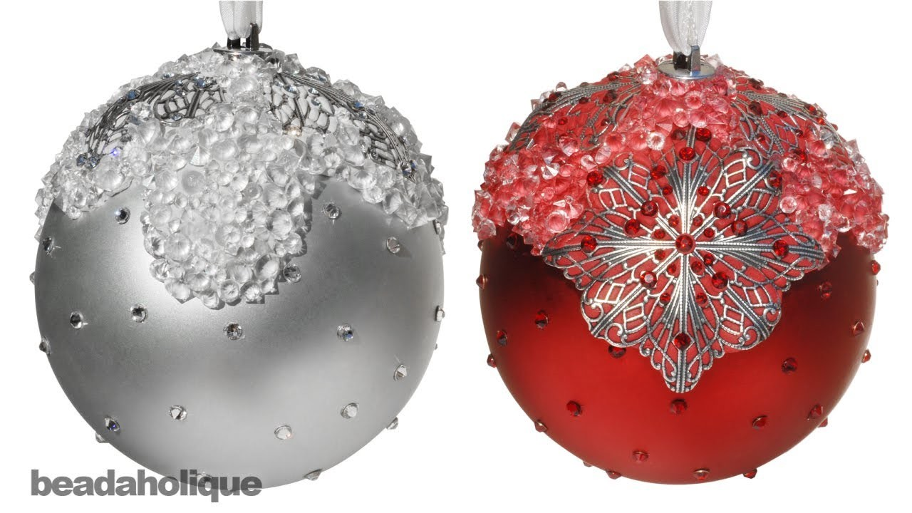 How to Embellish an Ornament with Crystal Clay, Filigree, and Crystals