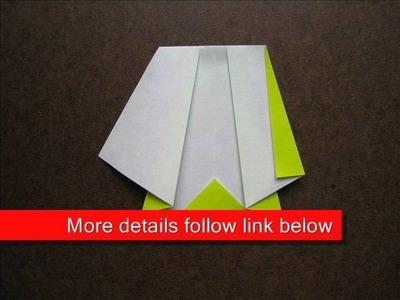 How to Fold Origami Rain Coat - OrigamiInstruction.com