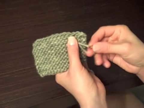 How to Knit: Weaving in Ends