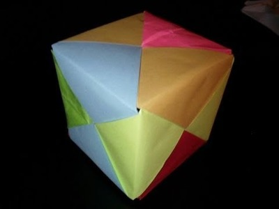 How to make a paper cube.