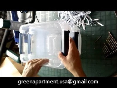 How to make an apartment size mini composting worm bin for $10 - Kids Craft. Project