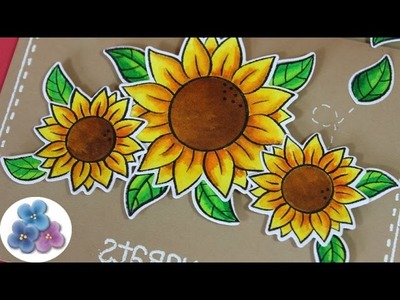 How to make Flowered Greeting Cards * 3D cards * Papercraft tutorial Mathie