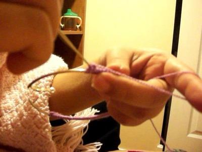 How to make the crochet earring pt2